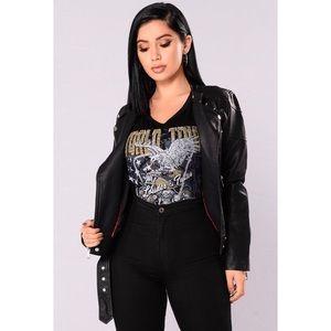 abc33d5b6d037 Fashion Nova Jackets   Coats - French Mole Moto Jacket - Black